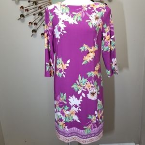 Chico's Floral Boatneck Shift Dress NWT